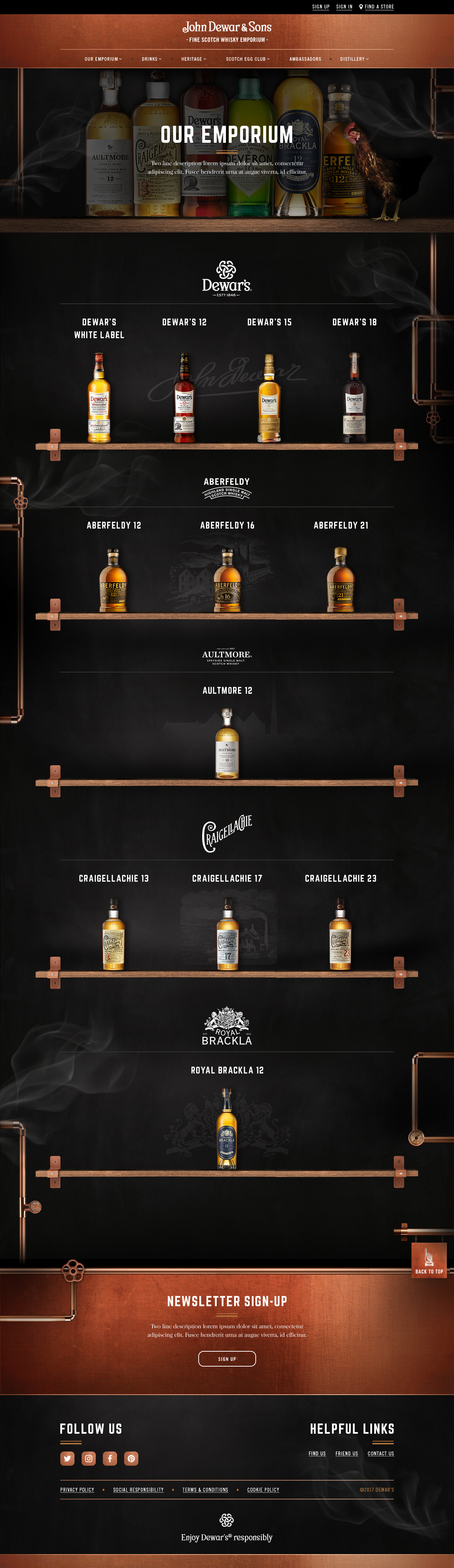 dewars-product-overview